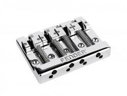 Fender® Bass Bridge 4-Saiter Chrom, 19mm Saitenabstand, Zink Saitenreiter