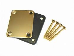Halsplatte / Neckplate mit Kunststoffauflage gold
