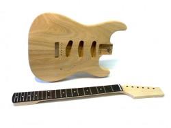 E-Gitarren-Bausatz/Guitar Kit Style I ohne Pickguard, Esche-Body