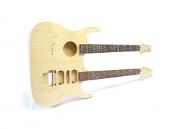E-Gitarren/Akustik- Gitarren Bausatz Double Neck Tree of Life Inlays 2.Wahl