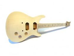 E-Git.-Bausatz/Guitar Kit PR-X- Flamed Top Custom Mahagoni