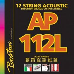 Gitarren Saiten 12-saitigige Akustikgitarre, Boston Extralight 09-45