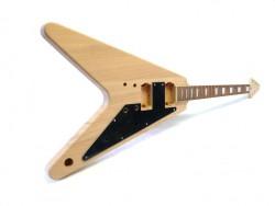 E-Gitarren-Bausatz / Guitar DIY Kit ML V Mahagoni,  Hals geschraubt