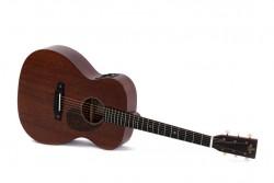 Western-Gitarre Sigma S 000M-15 E, Vollmassiv mit Pickup, incl. Soft Koffer