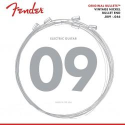 Fender E-Gitarren-Saiten pure nickel, 009-011-016-026-036-046, Bullets
