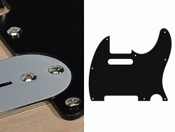 Pickguard II Standard 1-lagig schwarz
