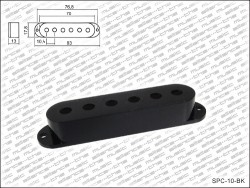 Single Coil Cover / Single Coil Kappe in schwarz Polabstand 10,4mm