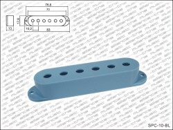 Single Coil Cover / Single Coil Kappe in blau