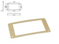 Humbucker-Rahmen in creme flach/gewölbt