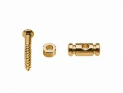 2 Stück Saitenniederhalter Zylinderform Gold