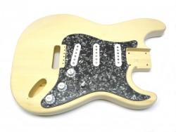 Korpus/Body I für E-Gitarre incl. Pickguard komplett, Black Pearl