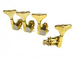 Bass Mechaniken/Tuner 1 Satz 4 links  gold geschlossen