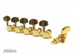 Gitarren-Mechaniken Wilkinson WJ-01 6 links große Flügel in gold