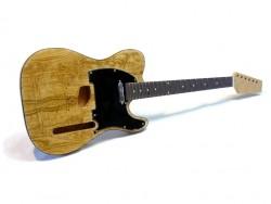 E-Gitarren-Bausatz II Quilted Ash Top, Mahagoni