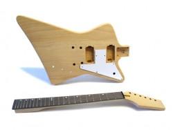 E-Gitarren-Bausatz/Guitar Kit Explorer-Style Mahagoni