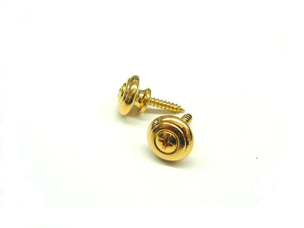Gurtpins / Strap Lock T-Form in gold 1 Paar