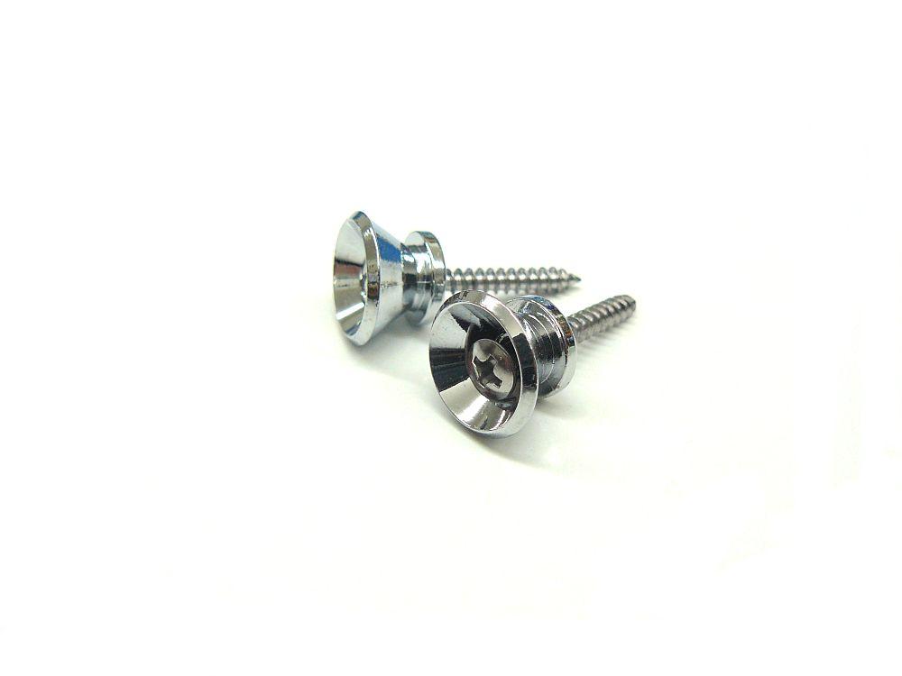Gurtpins / Strap Lock V-Form in chrom 1 Paar