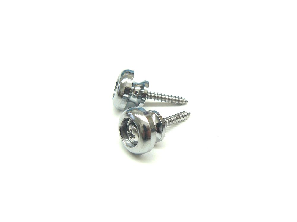 Gurtpins / Strap Lock T-Form in chrom 1 Paar