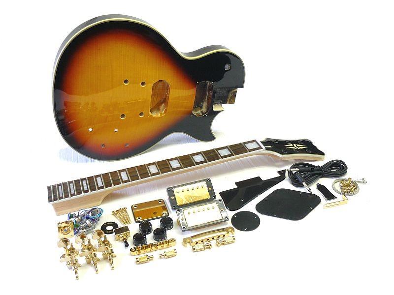E-Gitarren Bausatz MLP custom Style Tobacco Sunburst geriegelt