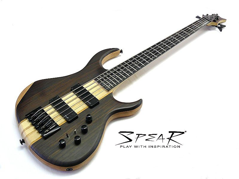 5 Saiter E-Bass Spear V DXE 5 Ebony Top aktiv