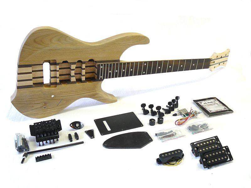 E-Gitarren Bausatz Guitar DIY Kit through neck