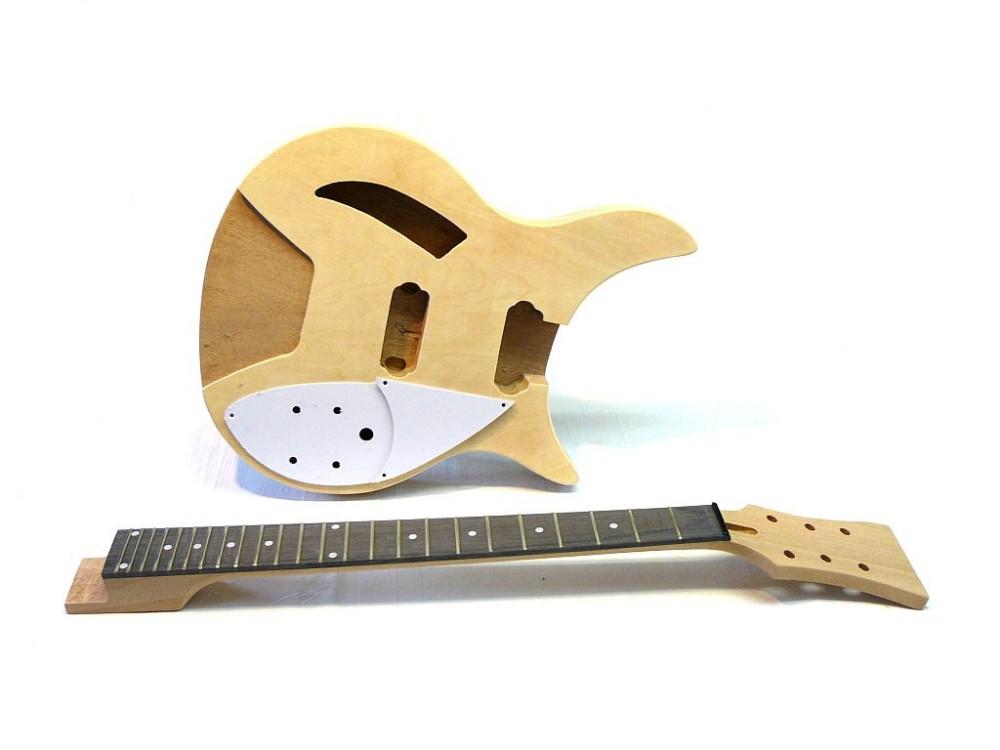 e gitarren bausatz guitar kit mlr hollowbody. Black Bedroom Furniture Sets. Home Design Ideas