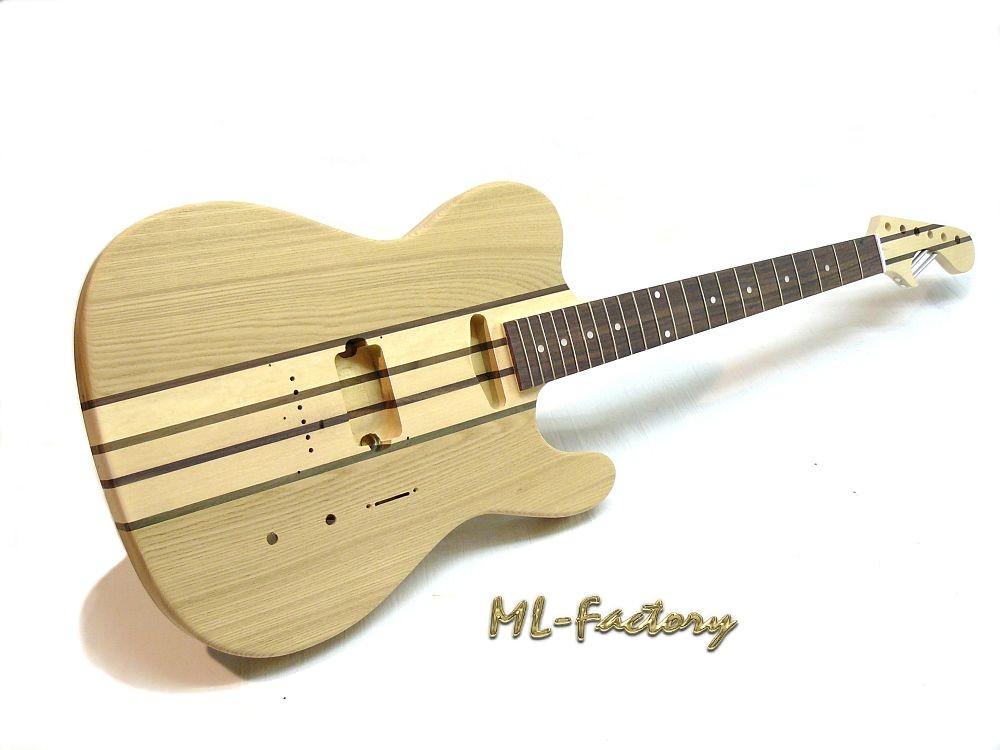 e gitarren bausatz guitar kit ml factory tstrado through neck esche. Black Bedroom Furniture Sets. Home Design Ideas