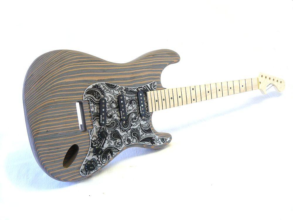 e gitarren bausatz guitar kit ml factory zstrado body aus zebrano. Black Bedroom Furniture Sets. Home Design Ideas
