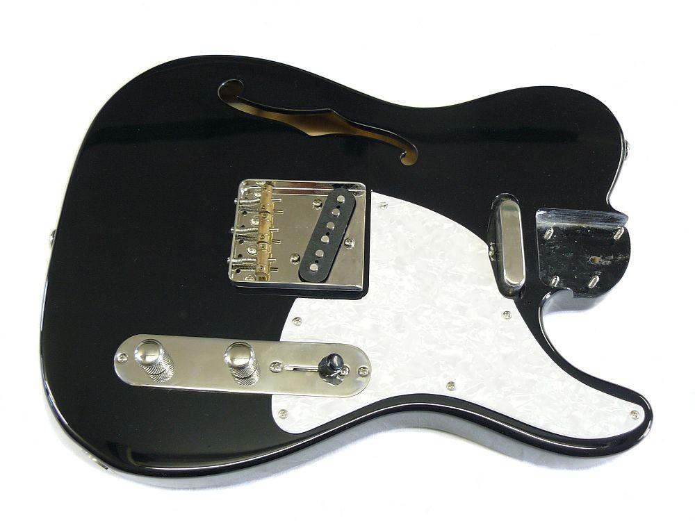 Korpus Body II thinline S schwarz spielfähig verdrahtet