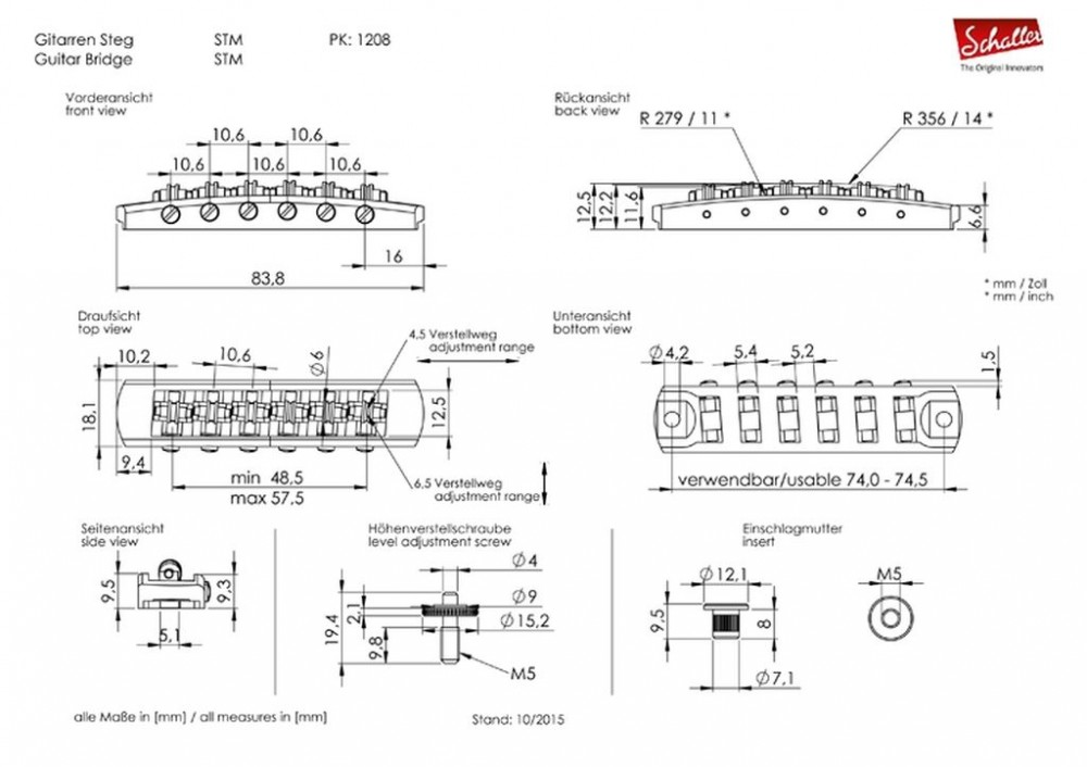 Schaller 3D Rollerbridge STM Chrom