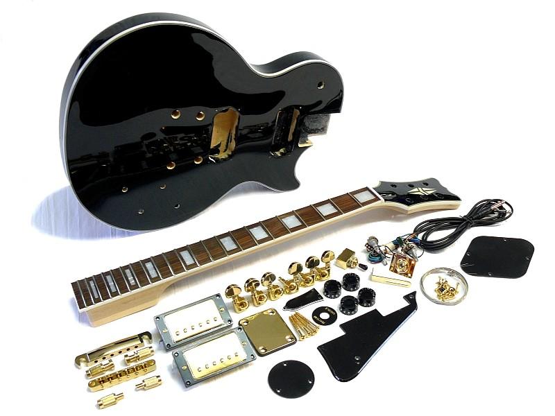 e gitarren bausatz mlp custom style schwarz lackiert. Black Bedroom Furniture Sets. Home Design Ideas