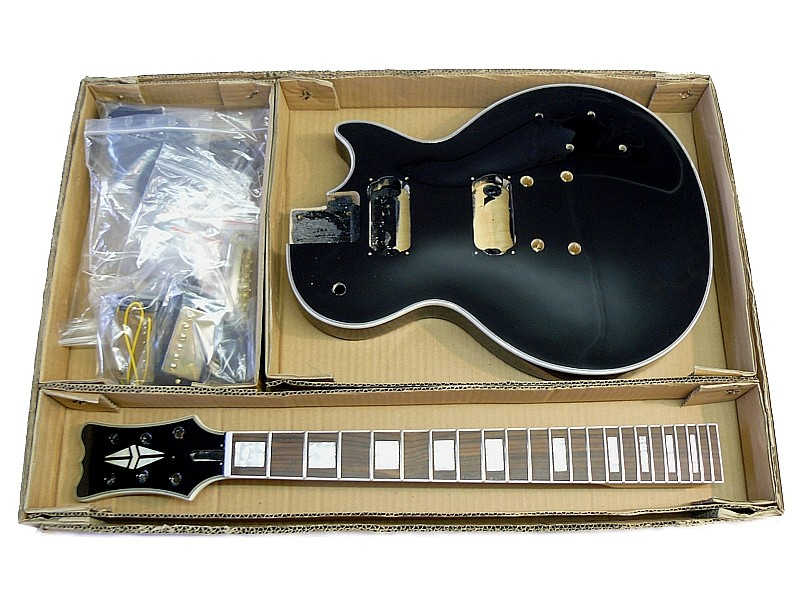 E-Gitarren Bausatz MLP custom Style schwarz lackiert