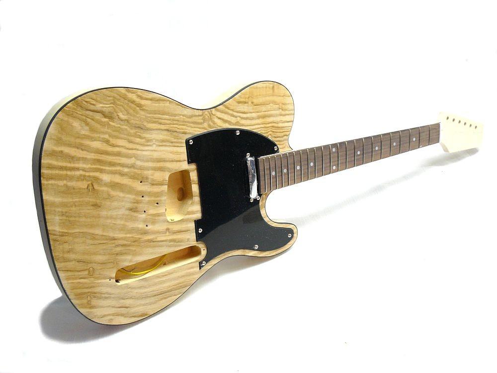 E-Gitarren Bausatz Guitar Kit Style II Esche Burl Top