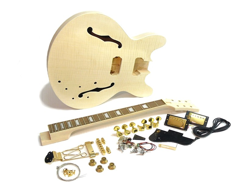 E-Gitarren Bausatz Guitar Kit MES Flamed Maple Top