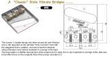 Wilkinson Vintage Bridge WTB chrom 3 Messing Saitenreiter