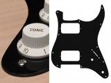 Pickguard I Standard 11-Loch 1-lagig schwarz HH 2xPoti