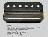 VIVA SHB Ceramic/Alnico Humbucker/Single Coil Combi BK