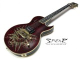 E-Gitarre Spear Monkey Signature SHL 1Q 1H Dark Red