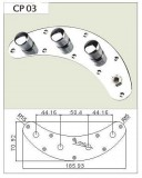 Control Plate für MM-Style Bass chrome komplett verdrahtet