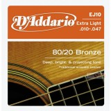 DAddario EJ10 Westerngitarren-Saiten 0.10-0.47