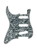 Pickguard I Standard 11-Loch 3-lagig Black pearl SSS lefthand