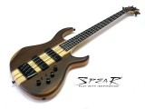 E-Bass Spear V-DXE 4 Ebony Top aktiv