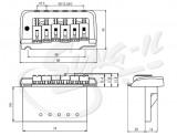 Tremolo mit 2 - Punkt-Klingenaufhängung chrom 66mm Klingenabstand