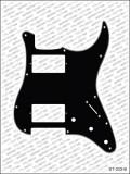 Pickguard I Standard 11-Loch 3-lagig schwarz HH 3xPoti
