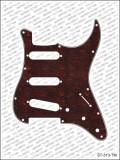 Pickguard I Standard 11-Loch 3-lagig Tortoise medium SSS