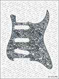 Pickguard I Standard 11-Loch 3-lagig black pearl SSS