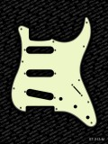 Pickguard I Standard 11-Loch 3-lagig mint SSS