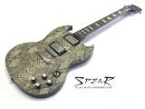 E-Gitarre Spear S-100 SS Snake Skin
