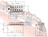 Tremolo BS 103 schwarz 2-Punkt-Klingenaufhängung
