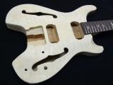E-Gitarren-Bausatz/Guitar Kit PR- Headless Hollowbody, Quilted Top